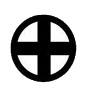 Enblema del clan de Saigo Takamori (Satsuma)